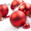 Christmas balls on the white background — Stock Photo #9277198