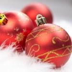 Christmas balls on the white background — Stock Photo