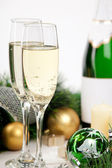 Glasses of champagne at New Year's Eve — Foto Stock