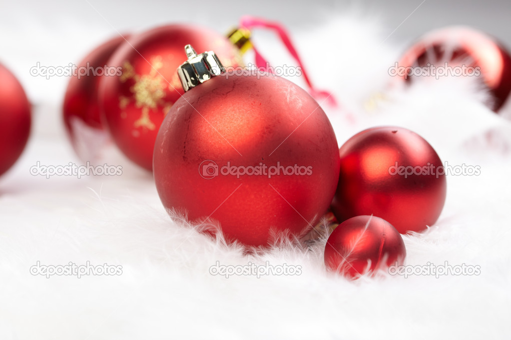 Christmas balls on the white background — Stock Photo #9275687