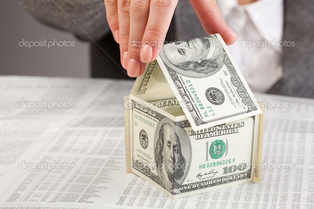 Dollars house — Stock Photo #9276343