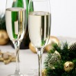 Glasses of champagne at New Year's Eve — Stock Photo #9280174