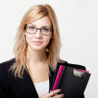 Businesswoman with a folder — Stock Photo #9280327