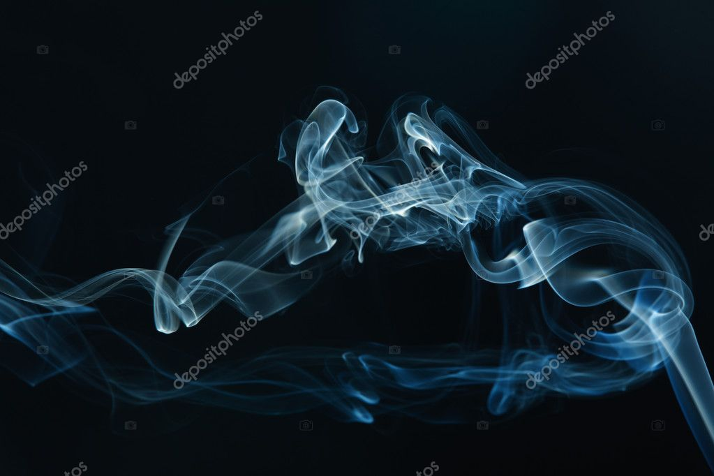 Smoke on the black background — Stock Photo #9280278
