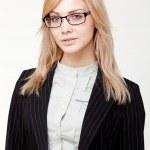 Young beautiful businesswoman — Stock Photo