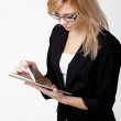 Businesswoman with electronic pad — Stock Photo #9300730
