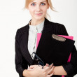 Businesswoman with a folder — Stock Photo #9302489