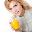 Young woman with orange juice — Stock Photo #9304078