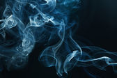Smoke on the black background — Stock Photo