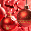 Red Christmas balls — Stock Photo #9640966