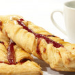 Puff pastry with jam - Stock Photo
