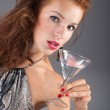 Beautiful woman with a cocktail — Stock Photo #9641309