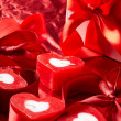 Stock Photo: Romantic candles