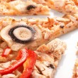 pizza with champignons — Stock Photo