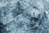 Water stream, globe, ecology — Stock Photo