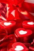 Velas românticas com dom — Foto Stock