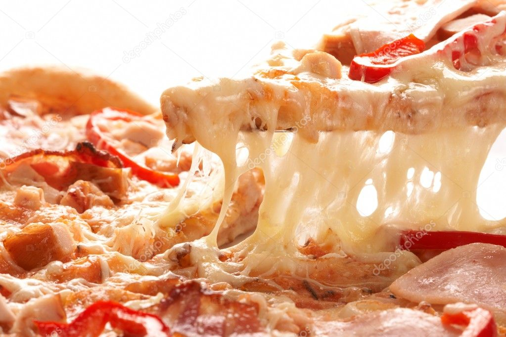 Pizza with pepper and ham  Stock Photo #9641503