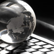 Globe and keyboard - Stockfoto