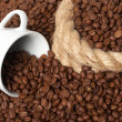 Cup in a grain of coffee — Stock Photo