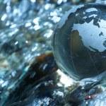 Water stream, globe, ecology — Stock Photo #9768857