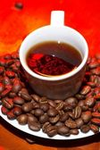 Red hot coffee — Stockfoto