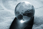 Globe, environmental responsibility — Stock Photo