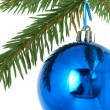 Blue balls , christmas — Stock Photo
