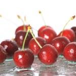 Cherries on white background — Stock Photo #9832599
