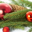 Red ball, christmas — Stock Photo #9832639
