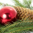 Stock Photo: Red ball, christmas