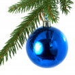 Blue balls , christmas — Stock Photo #9833390