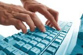 Hands typing — Stock Photo