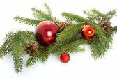 Red ball, christmas — Stock Photo