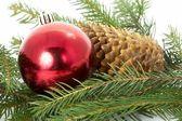 赤色のボール、クリスマス — ストック写真
