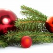 Red ball, christmas — Stock Photo