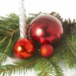 Red ball, christmas — Stock Photo #9841696