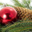 Red ball, christmas — Stock Photo #9842562