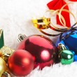 Ornaments in billowy feathers — Stock Photo