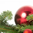 Red ball, christmas — Stock Photo #9843596