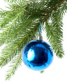 Blue balls , christmas — Stock Photo