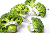 Medidor de dieta de brócolis — Fotografia Stock