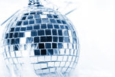Disco background with glowing lights — Stock Photo