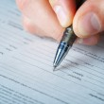 Pen work hand work, signature — Stock Photo #9871212
