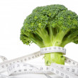 Broccoli diet meter - Stock Photo