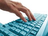 Hands typing — Foto de Stock