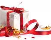 Feestelijke tapes, geschenk — Stockfoto