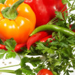 Fresh Vegetables, Fruits and other foodstuffs. - Stock Photo