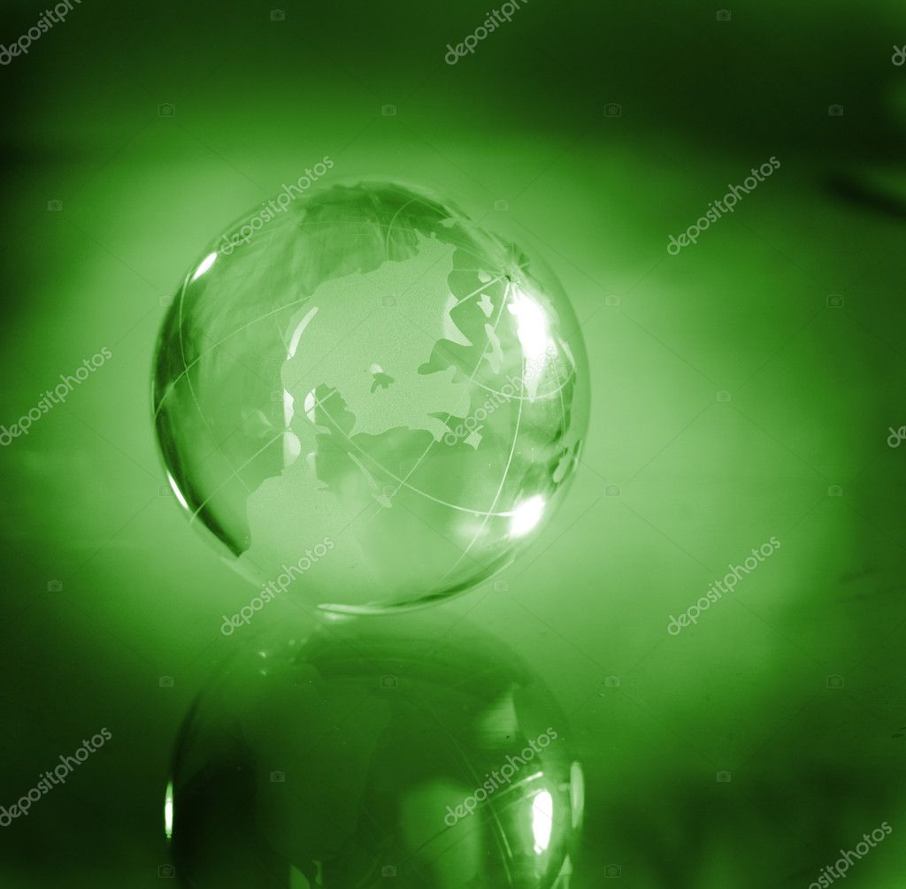 Globe, environmental responsibility — Stock Photo #9890651