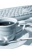 Kopje koffie op kantoor — Stockfoto
