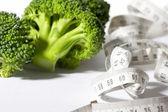 Broccoli diet meter — Stock Photo